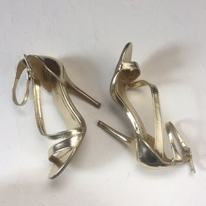Metallic Gold Stiletto Heels